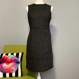 Zara Charcoal Grey Wool Blend Sheath Dress